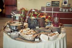 I Love This Rustic Buffet Table