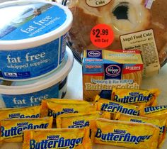 Butterfinger Dessert: Only 4 WW points in this delicious low fat dessert. A must pin!