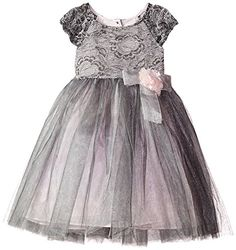 Marmellata Little Girls' Lace and Tulle Party Dress, Mult...