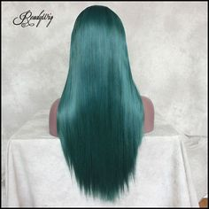 Long straight with special green color! Different colorful hair hot in 2019 #wig #haircolor #greenhair