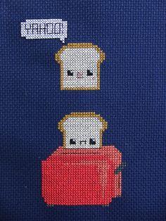 so cute! little toast :D