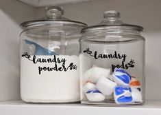 DECAL ONLY -Custom laundry Labels, laundry Canister Labels , Vinyl laundry Labels , laundry room Decals by on Etsy Laundry Pods, Room Organization, Laundry Labels, Room Decals, Laundry Room Decals, Canister Labels, Laundry, Laundry Detergent Storage, Laundry Room