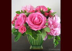 Wedding, Flowers, Pink, Centerpiece, Green, Simply blooms