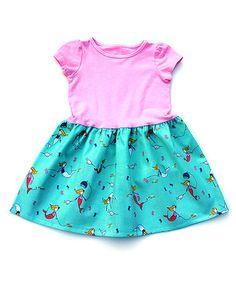 Pink Mermaid Puff-Sleeve Dress - Infant, Toddler & Girls by Alejandra Kearl Designs #zulily #zulilyfinds