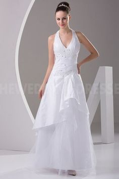 Classic White Satin Wedding Gown - Order Link: http://www.theweddingdresses.com/classic-white-satin-wedding-gown-twdn3882.html - Embellishments: Beading; Length: Floor Length; Fabric: Satin; Waist: Natural - Price: 164.9732USD