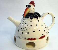 Rooster Tea Pot w/Warmer