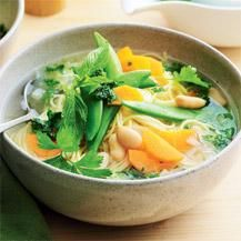 Spring herb soup