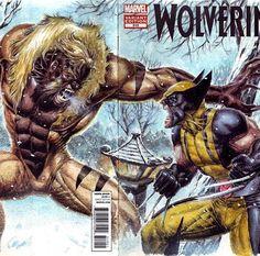 Sabertooth vs. Wolverine by Ed Tadeo