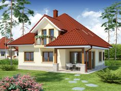 Paint Colors For Home, House Colors, Small Loft Apartments, Modern Bungalow, Minimalist House Design, House Paint Exterior, Residential Interior Design, Small House Plans, Simple House