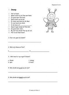 Dit werkblad en nog veel meer kun je downloaden op de website van Juf Milou. Dr Nowzaradan, Learn Dutch, Dutch Language, Exercise For Kids, Pre School, Preschool Activities, Spelling, Worksheets, Classroom