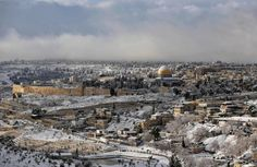 Snow covers the Dome of the Rock on the compound know to Muslims as al-Haram al-Sharif and to Jews as Temple Mount in Jerusalem's Old City on Jan. 10, 2013.