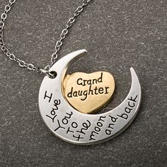Moon and Back Granddaughter Necklace - Florence Scovel - 1