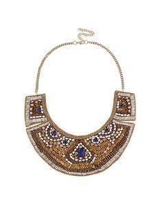 SuiteBlanco- Collar piedras abalorios Y Image, Stone Necklace, Black Tie, Turquoise Necklace, Chokers, Beads, Handmade, Necklaces, Fall