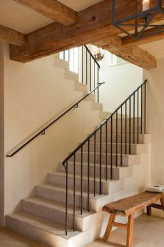 This is also true for that basement stairs. Iron Stair Railing, Staircase Railings, Stairways, Banisters, Stone Stairs, Basement Stairs, Railing Design, Interior Stairs, Stair Storage
