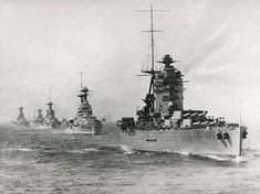 HMS Rodney, leading the Atlantic fleet.
