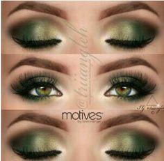 Wow Pretty green makeup