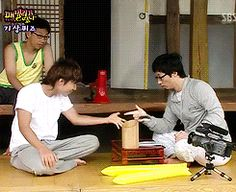 2008 Family Outing ep. 12 - Daesung wins the Dumb & Dumber staring contest   4/6