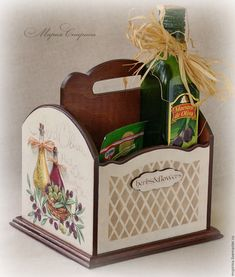 "Купить Короб для специй и масла ""Herbs&Flowers"", Прованс, Тоскана - короб для специй, короб для кухни"