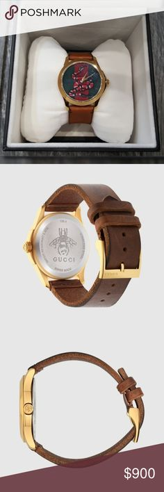 f68c4d1b5f793 NWT Authentic Gucci Red and Green Two Tone Watch NWT Authentic Gucci Red  and Green Two