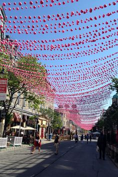 Pink street in Montreal #travel
