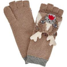 John Lewis Deer Trapper Gloves, One Size, Toast