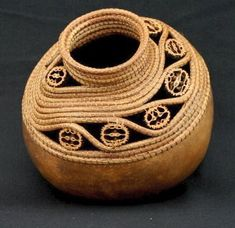 Pine Needle Gourd Basket by Lynn Horine basketsfromtheheart.com