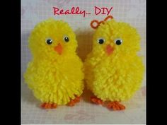 pompom chick & bunny tutorial - YouTube