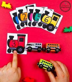 Preschool Transporation Unit - Train Counting #preschool #transportationunit #planningplaytime