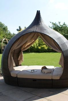 Imagine having this in your garden! This Peach Day Bed is literally the pinnacle of garden relaxing.