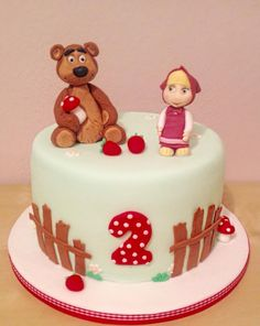 Masha and the Bear cake Childrens Birthday Cakes Pinterest