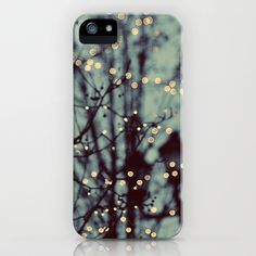 Winter Lights iPhone Case by Elle Moss - $35.00. There are lots of cute cases here. I wish it wasn't just for an iPhone.