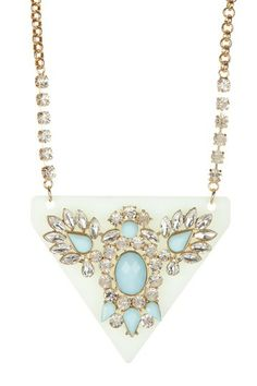 Mint Lucite Bib Necklace by Pop Of Color: Bold Jewelry Shop on @HauteLook....love!!