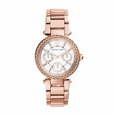 Michael Kors Armbanduhr – Parker Roségold-Tone Watch – in rosa – Armbanduhr für Damen