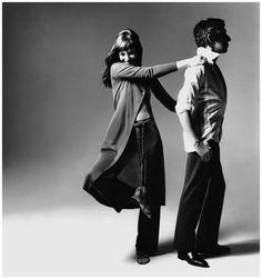 Bert Stern, Serge Gainsbourg and Jane Birkin, Vogue, New York,1970.
