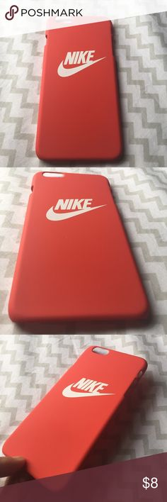 New nike iPhone 6 Plus case Brand new Red nike iPhone 6 Plus case this case fits both iPhone 6 Plus & iPhone 6s Plus!! It's a hard plastic case snaps on and off its has a very smooth texture I ship same day or next day business day !! 10% off 2 or more items  Nike Accessories Phone Cases