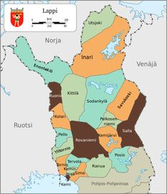 Map of Lapland, Finland-fi - Sami people - Wikipedia