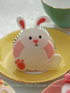 .easter bunny cupcake: created by the clever little cupcake company