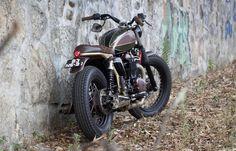 "Triumph Bonneville Brat Style ""Kiwi"" by Ton up garage #motorcycles #bratstyle #motos   caferacerpasion.com"