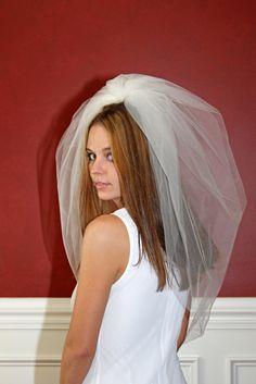 Bubble Veil Tulle Bridal Veil Elbow Wedding Veil 30 inch White Ivory Diamond White