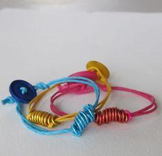 Arm Candy, Color Block Bracelets, DIY