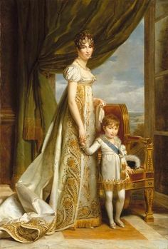 1807 Hortense with the Prince Royal of Holland by François-Pascal-Simon Gérard (Versailles) | Grand Ladies | gogm