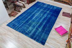 Vintage Turkish Rug, Over dyed Turkish Rug 5.77x9.15 ft (176 x 279 cm) by KilimArtShop on Etsy