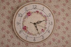 As Time Goes By Embroidered Clock