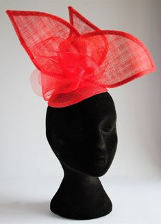 Special Occasion Outfits, Occasion Wear, Fascinator, Headpiece, Hand Molding, Race Day, Two Pieces, Wedding Attire, Scarlet