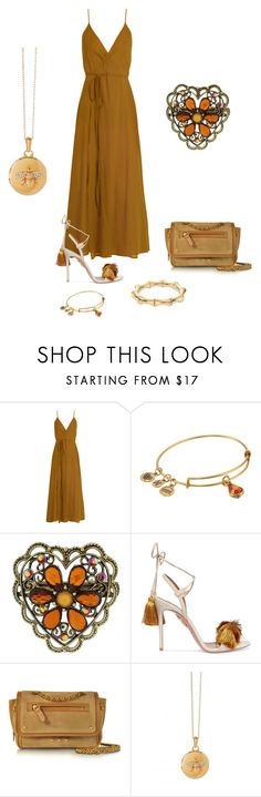 """Caramel lovers  🌙💫"" by mrsagosto ❤ liked on Polyvore featuring Loup Charmant, Alex and Ani, 1928, Aquazzura, Jérôme Dreyfuss and Gucci"