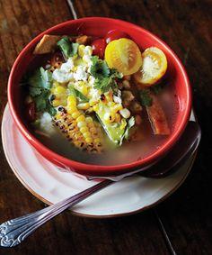 Tortilla Soup - Bon Appetit, from Mas tacos Por Favor, Nashville, TN Great Recipes, Soup Recipes, Favorite Recipes, Healthy Recipes, Jambalaya, Epicurious Recipes, Tacos, Mexican Food Recipes, Eating Clean