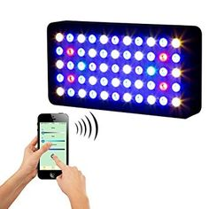 Roleadro ® WIFI 165W Dimmable Led Aquarium Light Control by Mobile Phone Four Modes for Fish Tank Water Plants Reef Coral Grow #marine #aquarium #tank #led #light #dimmable #wifi