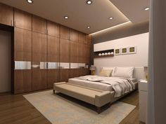 Parents' room Interior at Lodha Amara Thane by Kumar interior this is our ongoing interior site for more details kindly contact us call 9987553900 Master Bedroom Wardrobe Designs, Hotel Bedroom Design, Bedroom Door Design, Bedroom False Ceiling Design, Bedroom Cupboard Designs, Master Bedroom Interior, Bedroom Furniture Design, Modern Bedroom Design, Bedroom Layouts