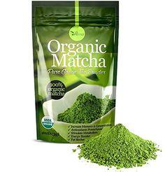Organic Matcha Green Tea Powder - 100% Pure Matcha (No Su...