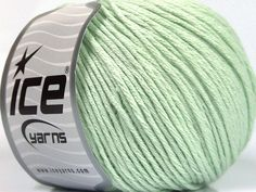 Fiber Content 60% Bamboo 40% Cotton Mint Green Brand Ice Yarns fnt2-50546